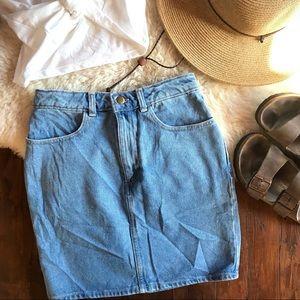 American Apparel • Denim Pencil Skirt